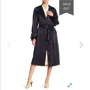 Vince Draped Trench Coat